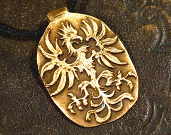 Eagle pendant made from 100% bronze, middle ages