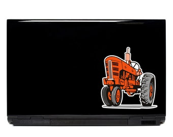 Farm Tractor Vinyl Laptop or Automotive Art FREE SHIPPING decal laptop notebook art sticker vintage retro diesel farming farms ranch barn
