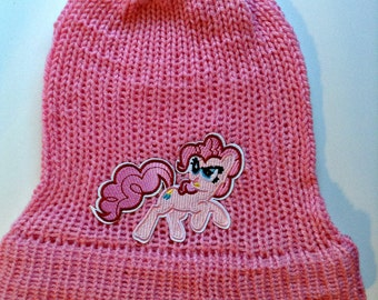Knitted Pinkie Pie Slouchy Beanie Hat