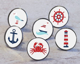 Nautical Sea Boat Themed Cupboard Knobs