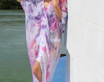 Shredded Tie Dye Dress ~ slowshine