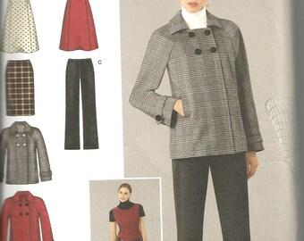 Simplicity 2868 uncut size 10 - 18 womans dress, skirt, pants and jacket