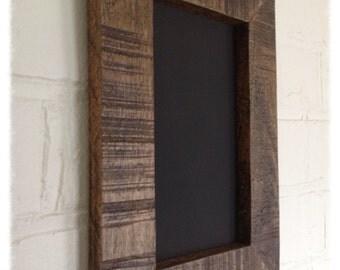 Rustic chalkboard A4 size