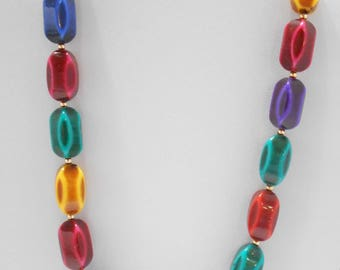 """Gorgeous Multi-Colored Beaded 18"""" Necklace (5048)"""