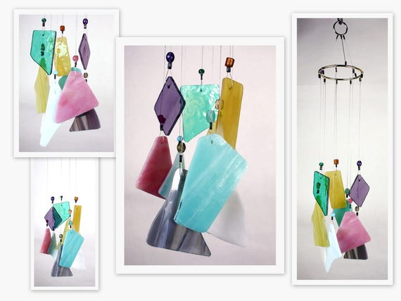 Stained Glass Windchime, Multi Color