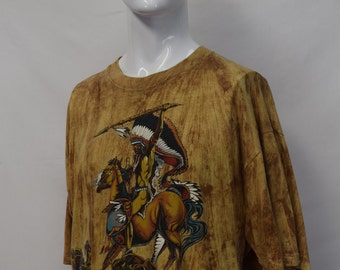 Red Indian Print T-shirt
