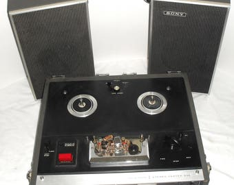 Vintage Sony Solid State Reel to Reel Tape Recorder and Player Model TC-230 Serviced & Working!