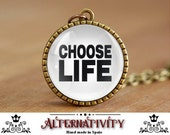 George Michael necklace, choose life necklace, Wham necklace, George Michael pendant, Choose life pendant, Wham Pendant (138)
