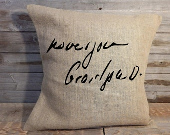 Personalized Handwritten pillow cover