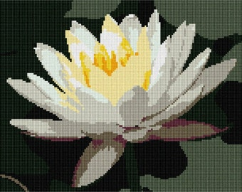 Needlepoint Kit or Canvas: Water Lily