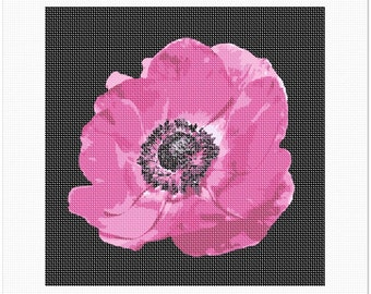 Needlepoint Kit or Canvas: Anemone