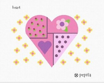 Needlepoint Kit or Canvas: Heart