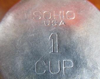 Vintage SOHIO Aluminum Measuring Cup