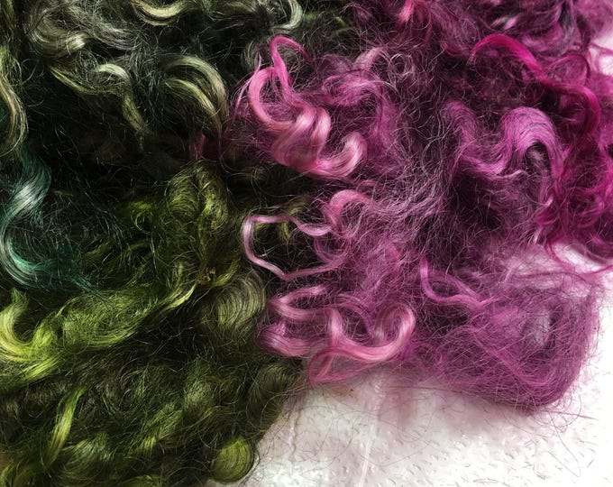 Kettledyed Adult Mohair (yearling grade), 01015