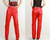 Red Leather Pants / Hein Gericke Pants / Leather Pants / Motorcycle Pants / Moto Pants / Racer Pants / Leather Pants 52