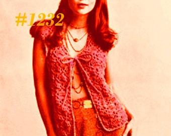 Almost FREE Vintage Mariella's Mod Vest #1232 PDF Digital Crochet Pattern