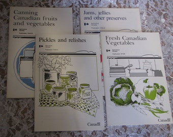 Set of 4 Canning and Preserving Booklets