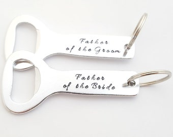 Personalized Bottle Opener Key Chain Father of the Bride Father of the Groom - Wedding Groom Groomsmen Bridesmaid Gift