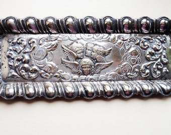 Repousse Silver Plate Pin Tray