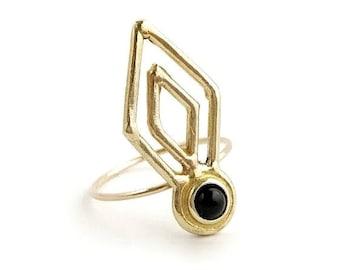 Delirium Ring with Black Onyx