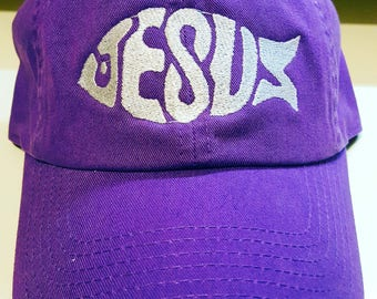 Embroidered Jesus Ball Cap