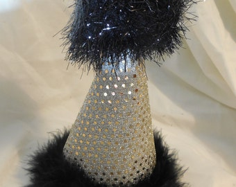 Black and Gold Birthday Hat