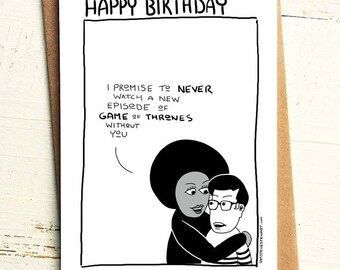 Game of Thrones Birthday Card - Brutally Honest Cards | TV shows | Netflix and Chill | Boyfriend | Girlfriend