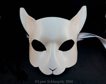 Leather Cat Mask. White Cat, Kitten mask, Animal mask, Black, Gray, Brown, Role Play, Masked ball, Cosplay, Fantasy,  Halloween, Cat costume