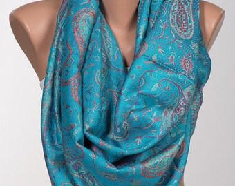 Paisley Pashmina Shawl Wrap. Christmas scarf wrap. Fall oversize scarf wrap. Valentine wrap.