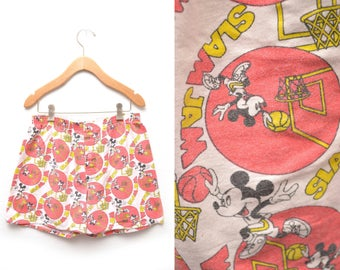 80s Mickey Mouse Slam Dunk Boxer Shorts Medium Stretch Waistband