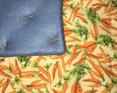 SPECIAL PRICE! Bunny Rabbit Quilted Floppin' Pad - Crunchy Carrots (Slightly dopey)