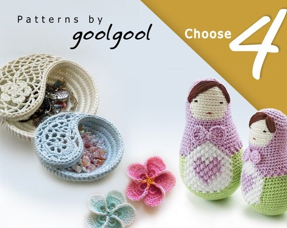Crochet Wedding Gift: Wedding Crochet Patterns Discount Package Set Of 4. By