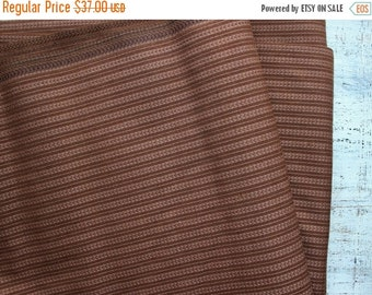 FLASH SALE Vintage fabric 5.66 yards in 1 listing wide fabric solid color geometric woven pattern chocolate brown