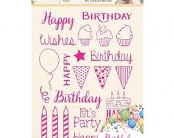 HAPPY BIRTHDAY STAMPs  by SARA DAViES - New !!
