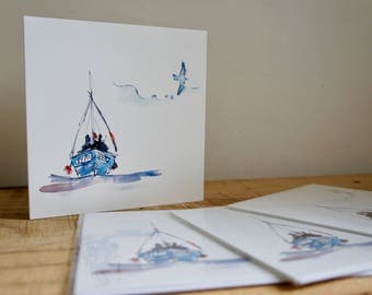 Fishing Boat Card