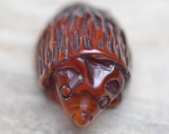 Amber Carvings - Handmade Hedgehog - Genuine Baltic Amber