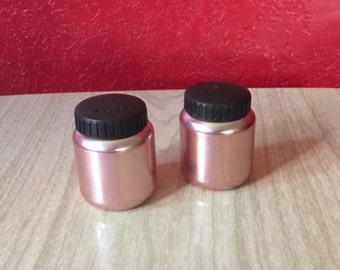Vintage Color Craft Anodized Aluminum Salt & Pepper Shakers