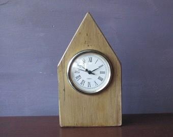 Mantle Clock-Shelf Clock-Recycled Wood Clock- Painted Clock-Small Clock-SmallClock-Salvaged Wood Clock-Handmade Clock-Small Shelf Clock