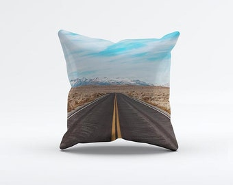 Road Trip Pillow Cover 15 x 15 inch, Travel cushion cover, Decorative Pillow Cover, Home decor
