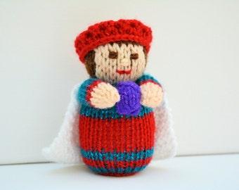 Knitted Nativity, Nativity Scene, Nativity Set, Wise Men, King Crown,Knit Doll,Knitting Pattern,Christmas Doll Knitting Pattern,Knitted Toys