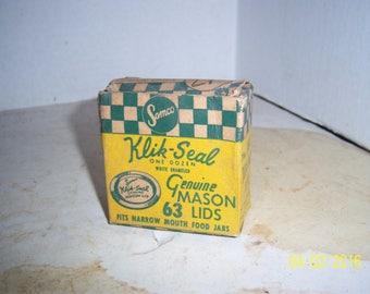 Vintage Samco Klik Seal  63  mason Lids in 1 dozen original box Pittsburgh, Pa