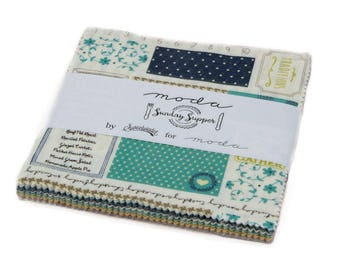 """Moda-Sunday Supper Charm Pack by Sweetwater Pre~Cuts 5"""" x 5"""" Squares"""