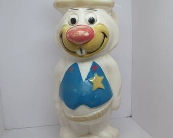 "Hanna Barbera Soakie Vintage 12"" Shampoo Bottle Bank Ricochet Rabbit"