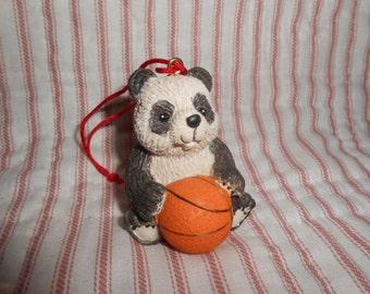Avon Gift Collection Sports Bear Ornament-Baseball-Panda