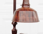ON SALE Vintage, Apollo Electric Co. Jeweler's Lamp, Desk Lamp, with Faux Wood Grain, made in Chicago