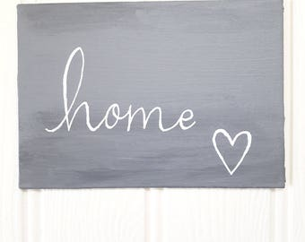 Home painting, house warming gift, new home, home sweet home, original painting, acrylic painting, grey art, hostess gift