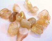 Large Nugget Citrine Beads Yellow Gemstone