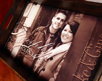 Family photo/ Personalized Serving Tray - Best Gift Ever! Personalized wedding gift/personalized photo gift