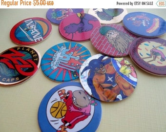 ON SALE Vintage Character Pogs