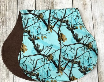 Blue Camo Hunting Burp Cloth